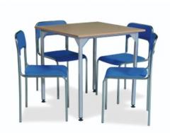 Krzesła, ławki, stoliki do stołówek, szatni, biur