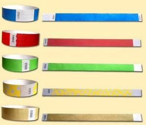 Paper wristbands tyvek type