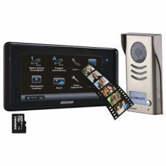 Zestaw widodomofonowy kolorowy 2-żyłowy z pamięcią i gniazdem kart SD