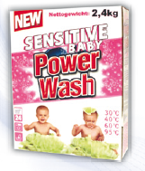 Detergents for the washing of children's