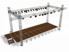 Stages, falsework elements