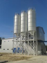 Concrete mixing plants and units