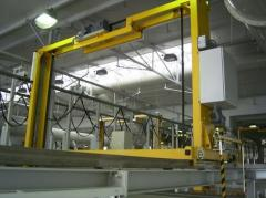Lines of chemical and galvanic coating for