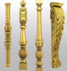 Carved balusters ( tralki rzeźbione )
