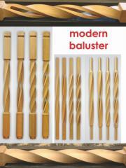 Oak balusters