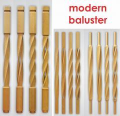 Modern balusters ( tralki nowoczesne, tralki gięte