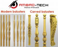 Carved / modern balusters ( tralki rzeźbione /