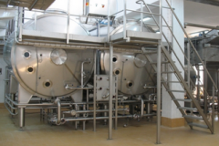 Equipment for the production of melted cheese