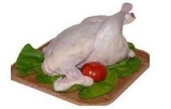 Hams of chickens
