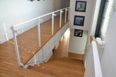 Balustrade made of stainless steel rope