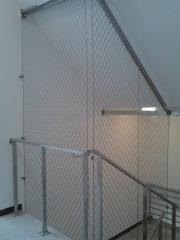 Safety net in the stairwells