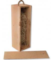 Skrzynka drewniana na 1 wino w kolorze naturalnym