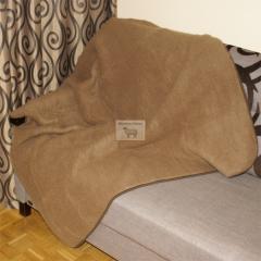 Koc wełniany z wełny wielbłądziej - Camel.
