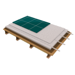 Panel floor heating