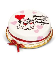 Tort z kotkiem