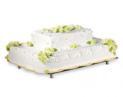 Tort różyczki w kolorze pistacjowym, prostokąt