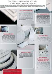 Ceramic fibers products