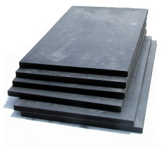Carbon and graphite boards, refractories