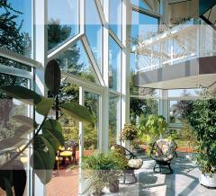 Gardens winter made of glass