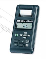 Przenośny miernik temperatury TES-1304 obsługujący czujniki termoelektryczne