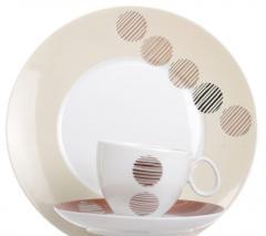 Zestaw obiadowo-kawowy na 6 osób - Quebec dek.E699