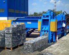 Equipment the processing of metal scrap