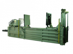 Horizontal-shape pressef for waste paper and films