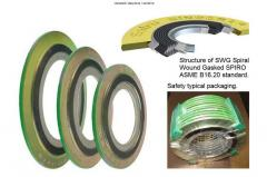 Seals popularly called SWG (spiral wound gasket)