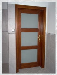 Nowoczesne, drewniane drzwi wewnętrzne