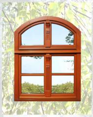 Wykonmane w nowoczesnej technologii okna drewniane Klasy S retro