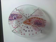 Artystyczne naczynia szklane , patery rękodzieło