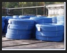 Rury PE do wody i ścieków  produkowane  metodą wytłaczania z polietylenu