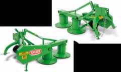 Rotary grass-mowing machines
