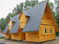 Sets of wooden houses