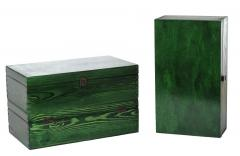 Boxes made of natural wood for packaging of