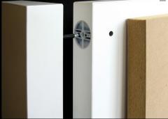 Płyta komórkowa (warstwowa) składająca się z bardzo lekkiego wypełnienia z włókna drzewnego i pokrycia z płyt HDF HOMADUR®.