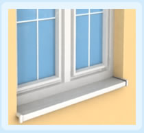 PVC windowsill