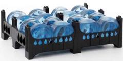 Palety plastikowe do transportu i magazynowania butli 19 litrowych / Поддоны для перевозки и хранения бакoв19 л