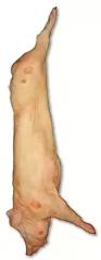 Deep-frozen pork half-carcasses