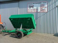 Hinged equipment for agricultural technics