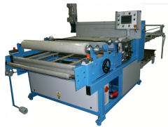 Automatic metal sheet cutter with straight knife