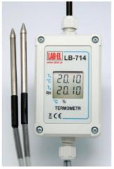 Termometr z sondą LB-714, LB-714P Psychrometr