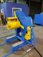 Small mechanical decoiler to 2 ton
