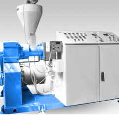 Extruders and co-extruders for plastics automatic