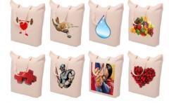El material promocional y bolsas, papel, impresión, precios bajos