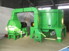 Chopper drum mill with straw. Yield according to:
