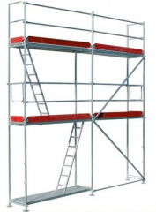 Transom scaffoldings