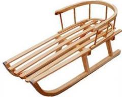 Sanki dla dzieci drewniane