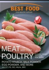 Meat and by-products from butcheries and poultry