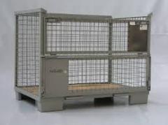 Pojemniki siatkowe gitterbox palety skrzyniowe